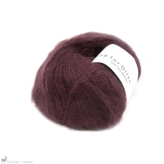Fil de soie Knitting For Olive Soft Silk Mohair Bordeaux