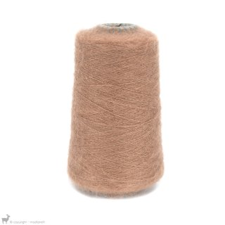 Fil de soie Knitting For Olive Soft Silk Mohair Brown Nougat Cône