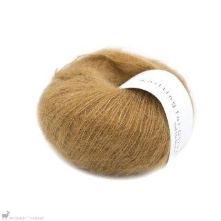 Fil de soie Knitting For Olive Soft Silk Mohair Caramel