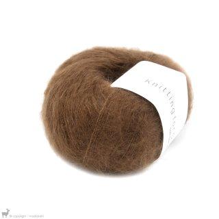 Fil de soie Knitting For Olive Soft Silk Mohair Dark Cognac