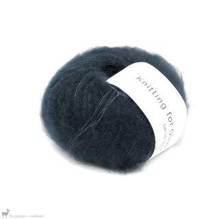 Fil de soie Knitting For Olive Soft Silk Mohair Deep Petroleum Blue