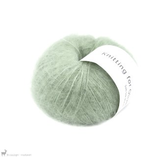 Fil de soie Knitting For Olive Soft Silk Mohair Dusty Artichoke