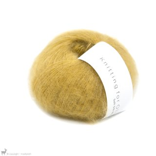 Fil de soie Knitting For Olive Soft Silk Mohair Dusty Honey