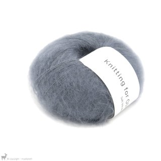 Fil de soie Knitting For Olive Soft Silk Mohair Dusty Petroleum Blue