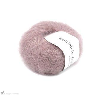 Fil de soie Knitting For Olive Soft Silk Mohair Dusty Rose