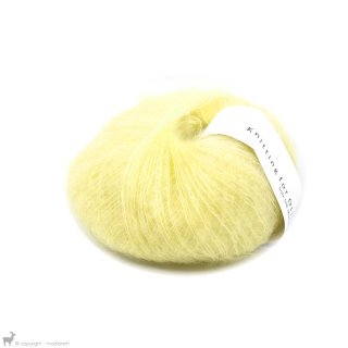 Fil de soie Knitting For Olive Soft Silk Mohair Marshmallow Yellow