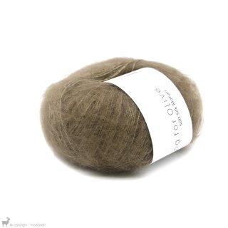 Fil de soie Knitting For Olive Soft Silk Nut Brown