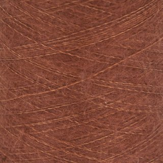 Fil de soie Knitting For Olive Soft Silk Mohair Rust Cône