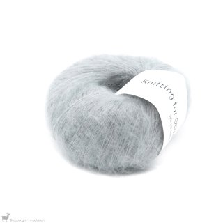 Fil de soie Knitting For Olive Soft Silk Mohair Soft Blue