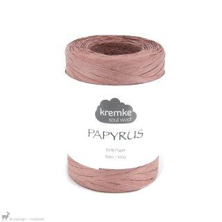 Fil de raphia Papyrus Rose Cuivré 90