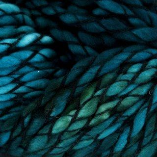 Laine mérinos Malabrigo Caracol Teal Feather 412
