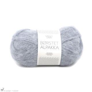 Laine d'alpaga Børstet Alpakka Bleu Gris 6220