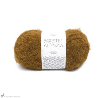 Laine d'alpaga Børstet Alpakka Brun Doré 2564