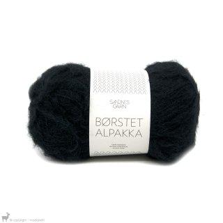 Laine d'alpaga Børstet Alpakka Noir 1099