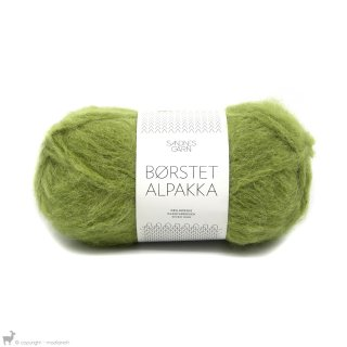 Laine d'alpaga Børstet Alpakka Vert Feuille 9645