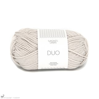 Laine mérinos Duo Blanc Mastic 1015