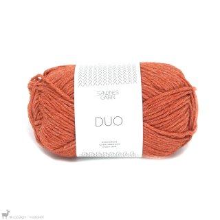 Laine mérinos Duo Orange 3517