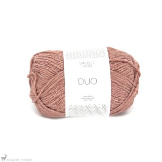 Laine mérinos Duo Rose Saumon 3543