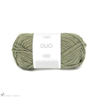 Laine mérinos Duo Vert Mousse 9551