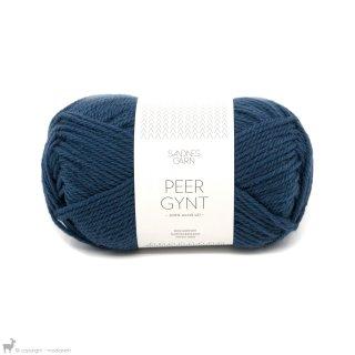 Laine de mouton Peer Gynt Bleu Amiral 6062