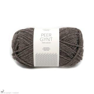 Laine de mouton Peer Gynt Brun Ecorce 2652