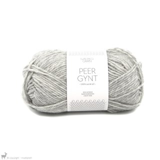 Laine de mouton Peer Gynt Gris Chiné Clair 1032