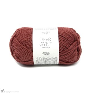 Laine de mouton Peer Gynt Rouge Terracotta 3845