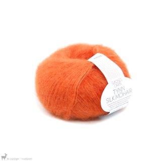 Fil de soie Tynn Silk Mohair Orange Néon 3818