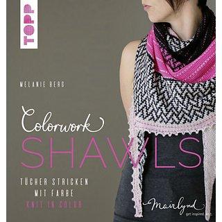 Catalogues Livre tricot Colorwork Shawls par Melanie Berg