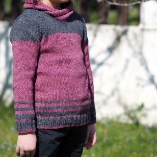 Pull enfant Modèle pullover Petit Passiflore par Hel et Zel