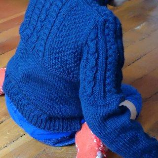 Pull bébé Modèle cardigan Sarnia par Hel et Zel