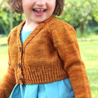 Gilet bébé Modèle Cardigan Mini Agora par Instants de Louise