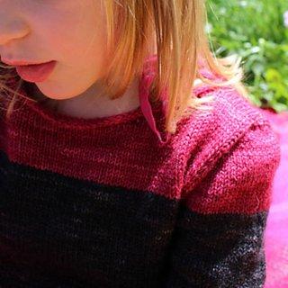 Pull enfant Modèle Pullover Petit Bicolore par Instants de Louise