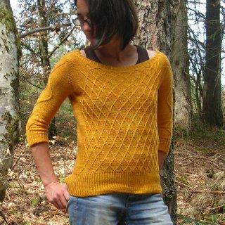 Pull femme Modèle Pullover Saphir par Marion Knits
