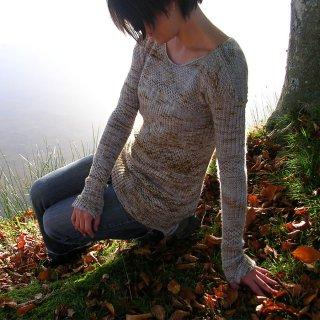 Pull femme Modèle Pullover Soft Texture par Marion Knits
