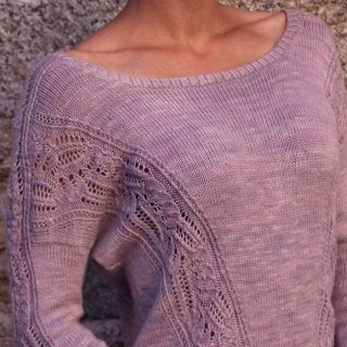Pull femme Modèle Pullover Straight to the heart par Marion Knits