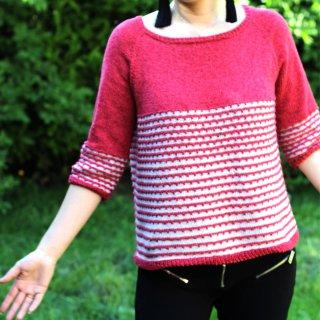 Modèle Pullover Angela par Xiaowei Designs - Madlaine