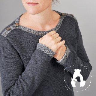 Pull femme Modèle Pull Grande Ourse par Elise Dupont