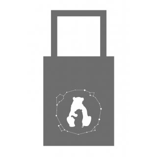 Totebag Grande Ourse - Petite Ourse Gris