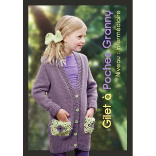 Gilet boutonné à poches granny 99-20