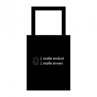 Goodies Madlaine Totebag Maille Endroit Maille Envers