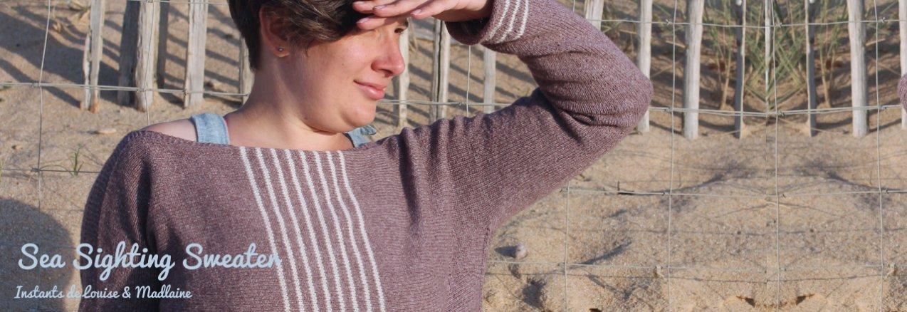 Sea Sighting Sweater, la marinière revisitée par Instants de Louise - madlaine.fr