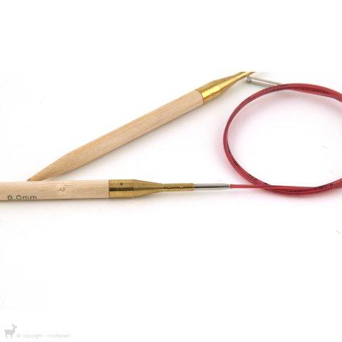 Embouts aiguilles circulaires Bambou - Addi