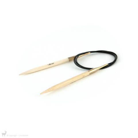 Aiguilles circulaires fixes Bamboo 80cm - KnitPro