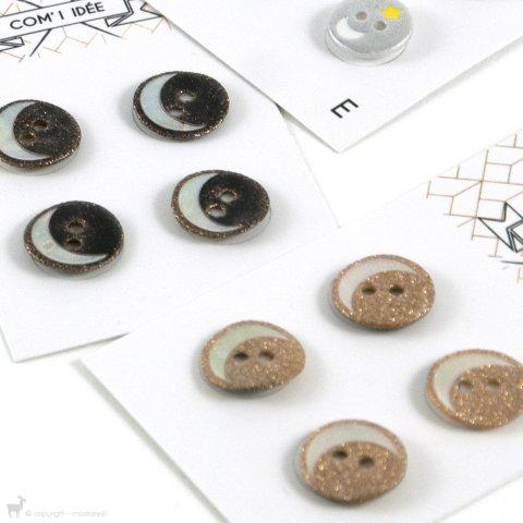 Carte de boutons 14mm - COM'1 IDEE