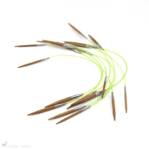 Aiguilles circulaires fixes Bamboo 23cm Hiya Hiya - Hiya Hiya
