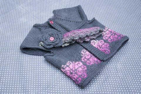 Kit Glasgow pour bébé: gilet top-down sans couture et bandeau assorti - Madlaine