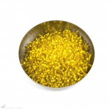 Perles rocailles 8/0 Silverlined Yellow 6