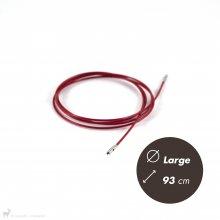 Matériel Chiaogoo Câble Twist Rouge 93cm Large