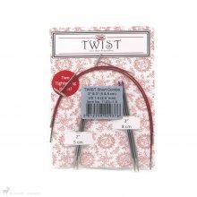 Aiguilles circulaires interchangeables Twist Short Combo Pack 2,5mm